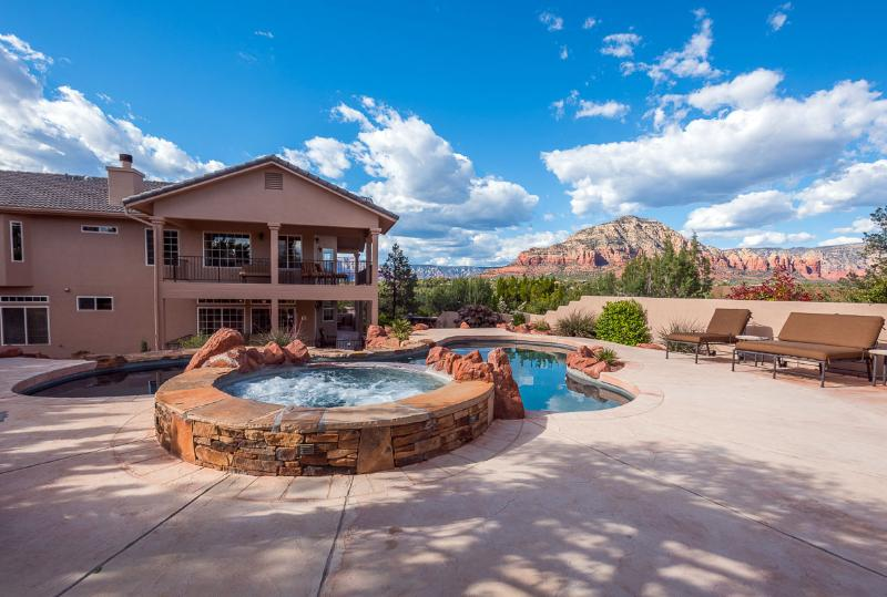 Your own resort style pool with privacy - Sedona Grand - Pool-Spa - Red Rock Views - Luxury - Sedona - rentals