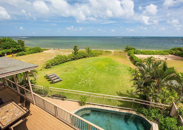 8 bedroom with Pool, Jacuzzi, Oceanfront! - Image 1 - Haleiwa - rentals