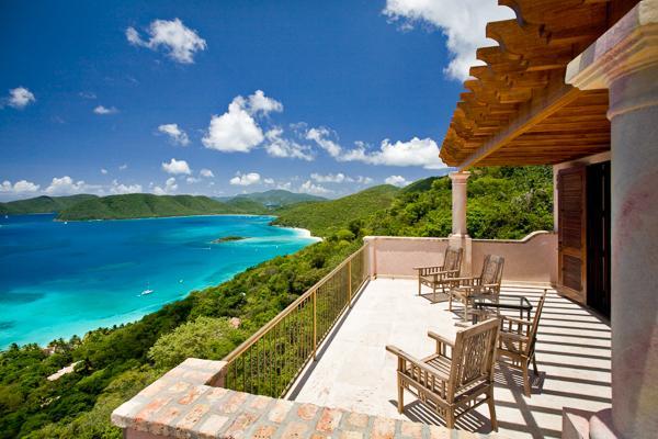 This unusual 3- story villa has an infinity edge pool overooking the water. MAS CAR - Image 1 - Saint John - rentals