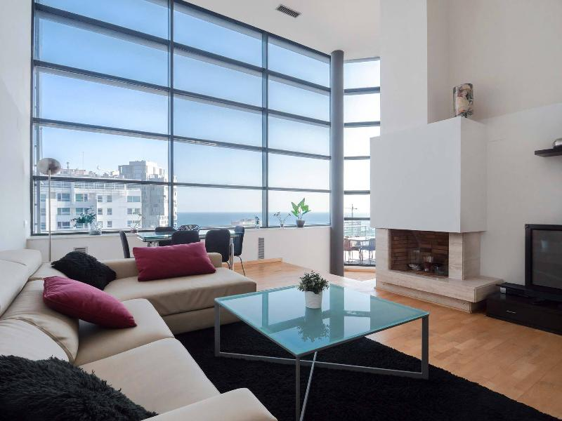 Living room-Sitting room - Exclusive Beach Penthouse with Pool and Gym - Barcelona - rentals