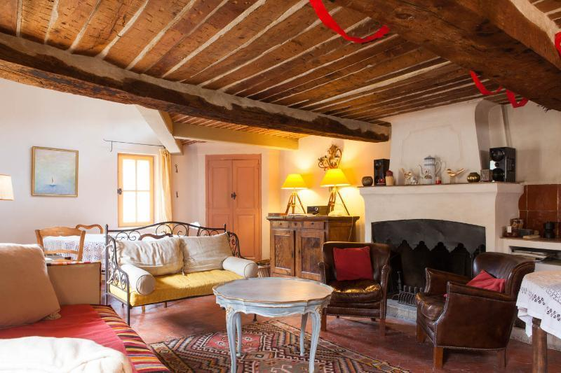 Large living room with original 17th century beams - Maison Mimosa - Boutique 17th Century holiday let - Flayosc - rentals