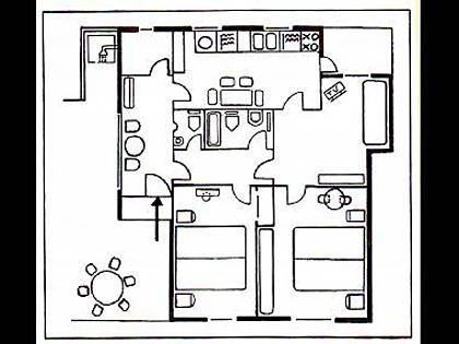 H(4+1): floor plan - 3009 H(4+1) - Hvar - Hvar - rentals