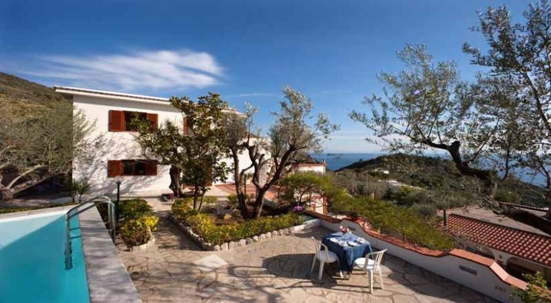 Villa Sirena pool area - VILLA SIRENA - Marina del Cantone - Sorrento area - Marina del Cantone - rentals