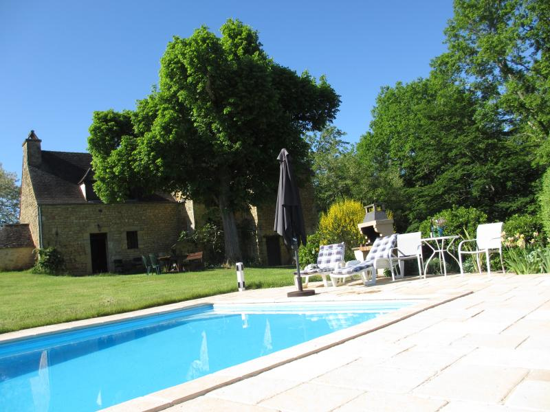Pool and Old House - Country houses in Dordogne. Pool. View and privacy - Grolejac - rentals