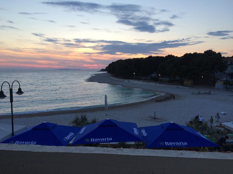 Sunset seen from balcony - 1 Bedroom condo for 4 persons next to the beach - Primosten - rentals