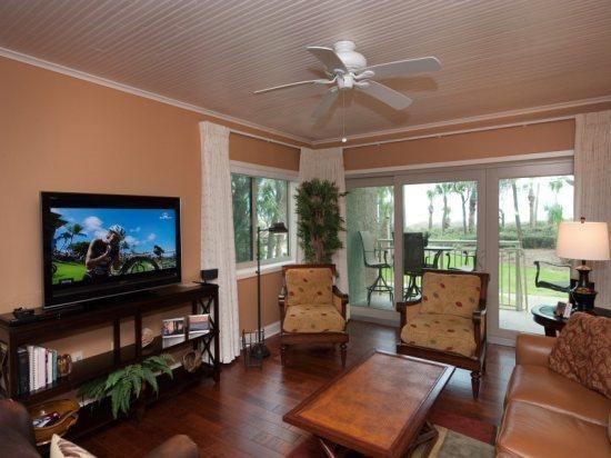 Living Room with Flat Screen at 457 Captains Walk - 457 Captains Walk - Hilton Head - rentals