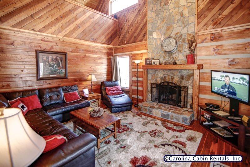 Kumbaya Living Room - Kumbaya Log Cabin - Boone - rentals
