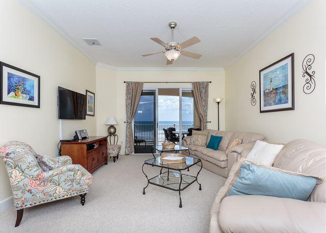 Picture yourself reclining here and watching the sea! - Cinnamon Beach 744, Beach Front condo, 4th Floor, HDTV, Huge Balcony, Wifi - Palm Coast - rentals
