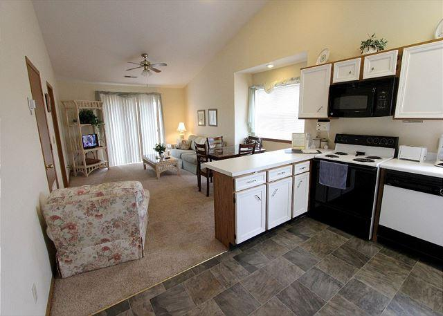 Living Room - Beached at the Bay- Pet Friendly 2 Bed/2 Bath Condo near Silver Dollar City - Branson - rentals