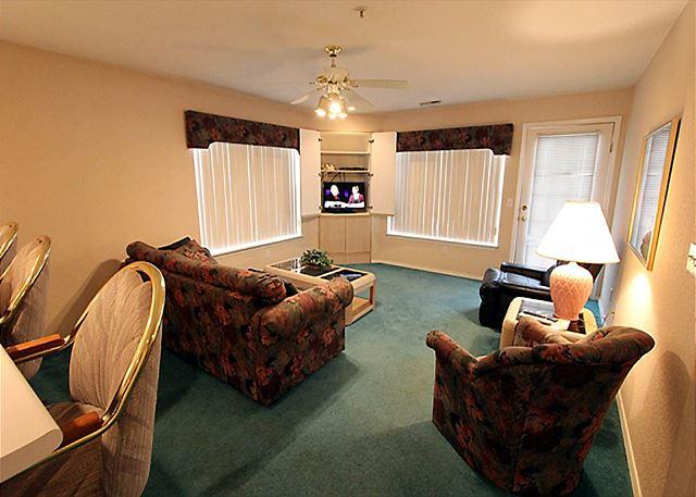Living Room - Over the Rainbow-2 bedroom, 2 bath condo located a Fall Creek Resort - Branson - rentals