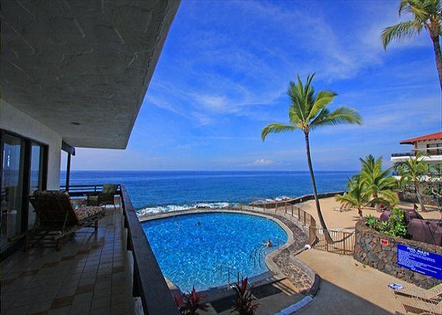 Casa De Emdeko 219 2 Bdrm DIRECT Ocean Front CORNER unit, Wrap around Lanai! - Image 1 - Kailua-Kona - rentals