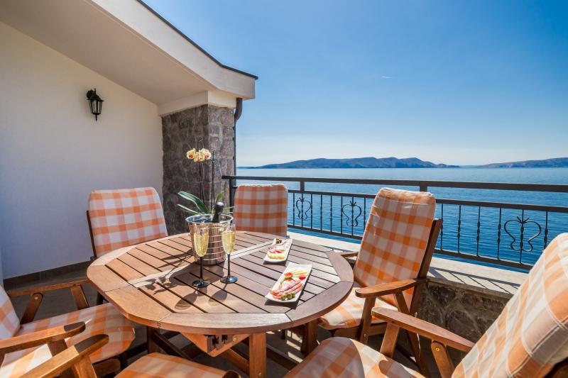 Villa Arca Adriatica, relaxing abiance on balcony, amazing sea view - Sea View Apartment****(4+2)  Villa Arca Adriatica - Senj - rentals