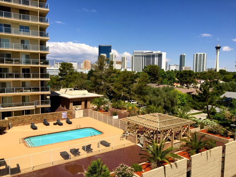 The View From Balcony, Living Room & Both Bedrooms !!! - CC 06, 2BR+ 2 Master bath + Living Room, With A Gr - Las Vegas - rentals