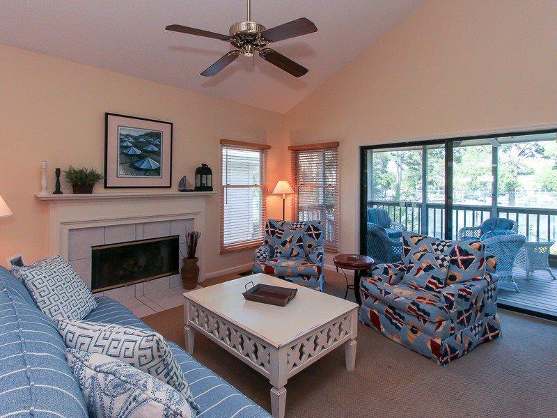 Living Room at 6 Beachside - 6 Beachside - Sea Pines - rentals