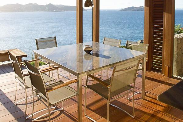 Romantic villa perched above ocean with panoramic view over bay WV ARI - Image 1 - Pointe Milou - rentals