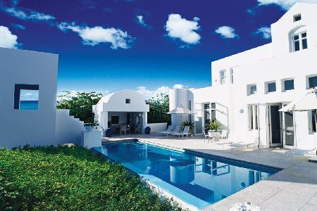 Sky Villa - Sleek beachfront villa atop Temenos with 3 private terraces & pool - Image 1 - Long Bay Village - rentals
