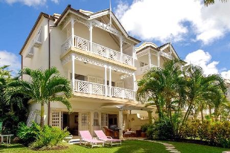 Beachfront Fathom's End with lush garden, plunge pool & private beach path - Image 1 - Paynes Bay - rentals