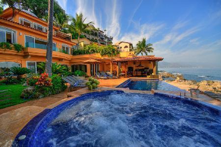 Casa Caleta- private beachfront enclave with infinity pool, charming  location - Image 1 - Puerto Vallarta - rentals