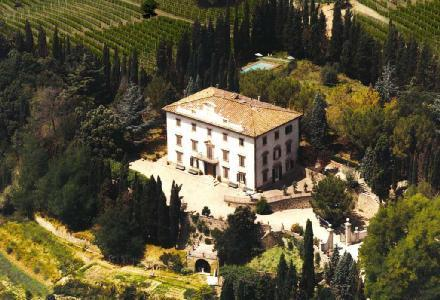 Restored 18th century Villa Mimosa, hilltop above old town of Staggia Senese with pool - Image 1 - Siena - rentals