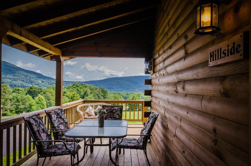 Hillside Cabin's view of the Dolly Sods - Luxurious Log Cabin - 3 Bedroom / 2 Bath - Canaan Valley - rentals