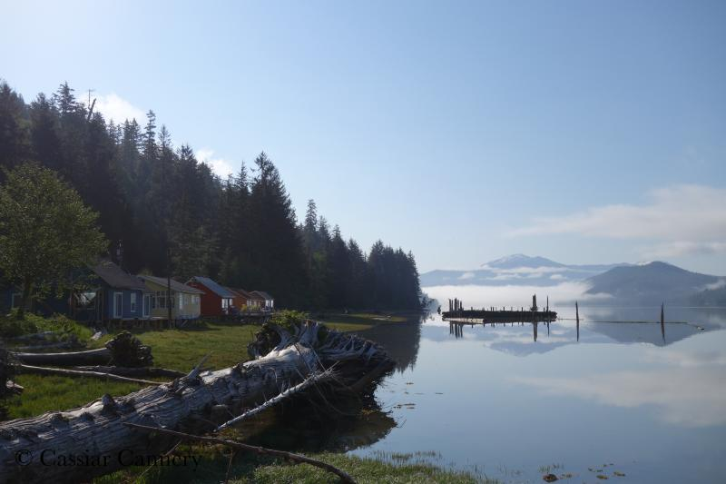Cassiar Cannery - Guest House on an tranquil morning looking towards the mouth of the Skeena River - Cassiar Cannery ~ where history and nature meet~ - Prince Rupert - rentals