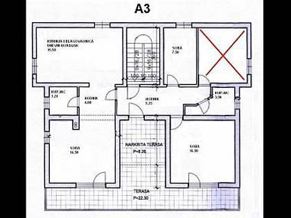 A3(5+2): floor plan - 5037  A3(5+2) - Podstrana - Podstrana - rentals