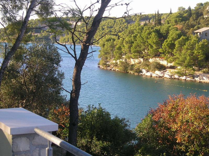 Plavi(2+2): terrace view - 00701BOBO Plavi(2+2) - Bobovisca - Bobovisca - rentals