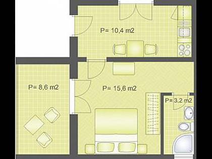 A3 (2): floor plan - 2046  A3 (2) - Pucisca - Pucisca - rentals