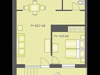 A2 (2+2): floor plan - 2046  A2 (2+2) - Pucisca - Pucisca - rentals