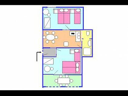A I(4+1): floor plan - 2140  A I(4+1) - Crikvenica - Crikvenica - rentals