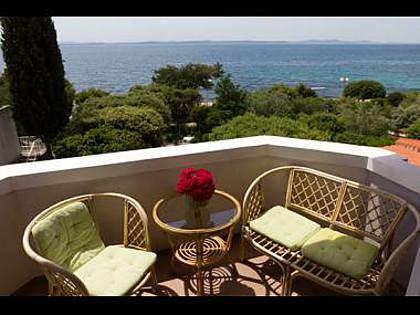 A2 Zeleni(4+1): terrace view - 2494 A2 Zeleni(4+1) - Petrcane - Petrcane - rentals