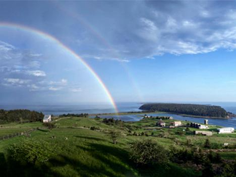 Rainbow over Shobac - #33 Shobacs Mosher Cottage, Upper Kingsburg NS - Nova Scotia - rentals