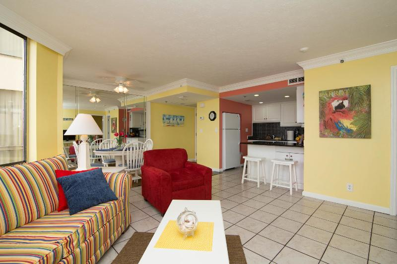 Living Room - Sunbird - Ground Floor Gulf Front in East Building - Panama City Beach - rentals