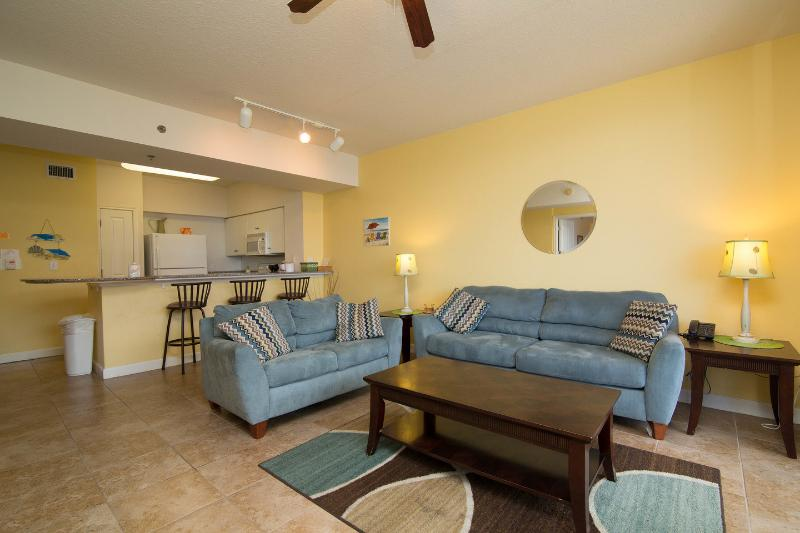 Living Room - Oceanfront 1 Bed + Bunk + 2 Baths Shores of Panama - Panama City Beach - rentals
