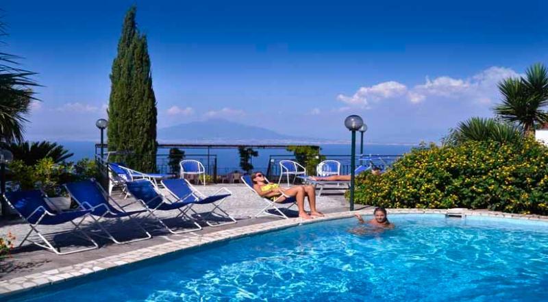Villa Bianca pool area - VILLA BIANCA 12 - Priora - Sorrento area - Sorrento - rentals