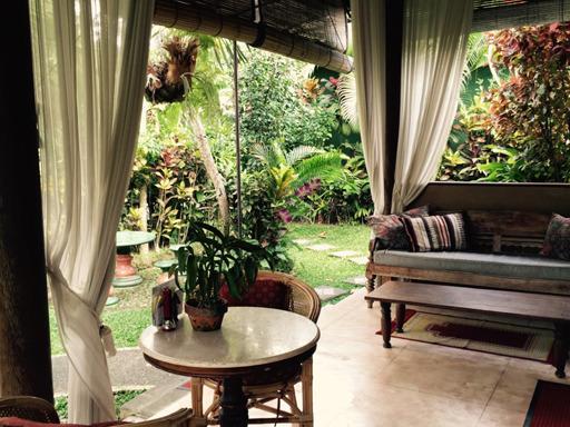 Comfy terrace - Lotus Cottage Ubud (pool, wifi, quiet garden) - Ubud - rentals