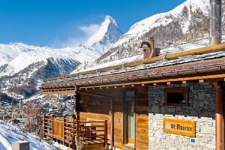 Elegant Alpine Chalet Maurice with Staff, Spa & Steam Room Near Town & Slopes - Image 1 - Zermatt - rentals