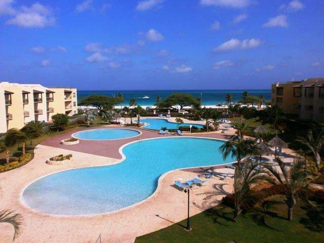 This is your supreme ocean view from your balcony! - Supreme View Two-bedroom condo - A344 - Eagle Beach - rentals