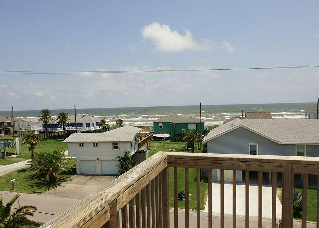 Spacious home has great views of the beach from either of the large decks! - Image 1 - Galveston - rentals