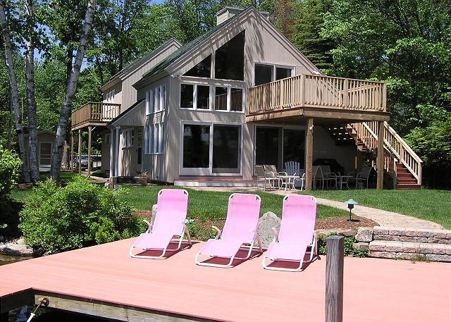 Back of House - Delightful Waterfront Contemporary Vacation Rental on Lake Winni (BAR23W) - Meredith - rentals