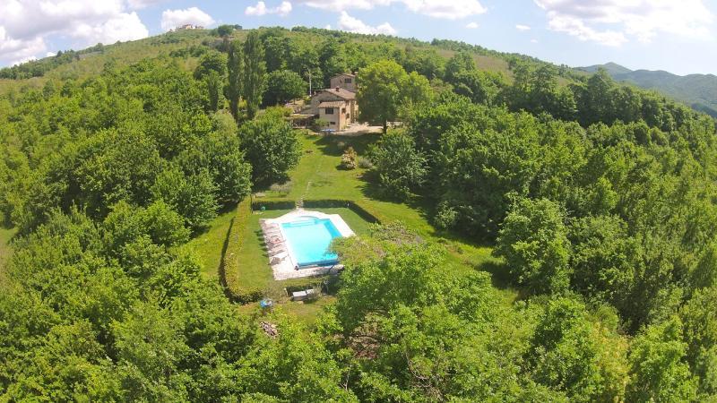 Ca di Bracco private house - Ca di Bracco warmest outdoor pool in Umbria - Umbertide - rentals