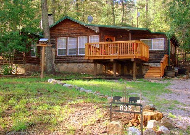Main Stay is a cozy 4 bedroom 3 bath cabin with a hot tub for star gazing - Image 1 - Ruidoso - rentals