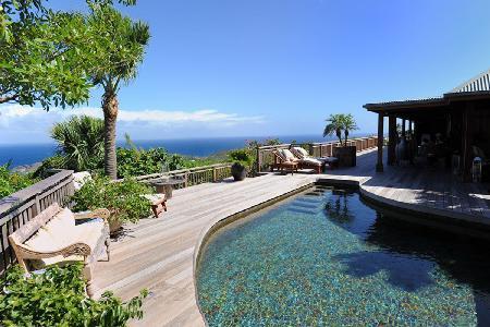 Fabulous Nahma Villa offers panoramic sea views and a lava stone pool - Image 1 - Vitet - rentals