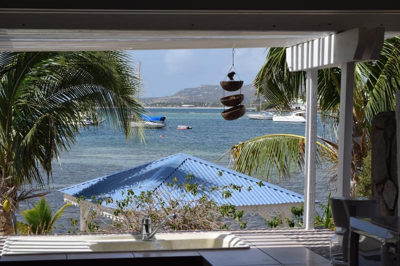 view from the studio reserve naturelle - studio pinel        http://www.studiostmartin.com/ - Saint Martin-Sint Maarten - rentals