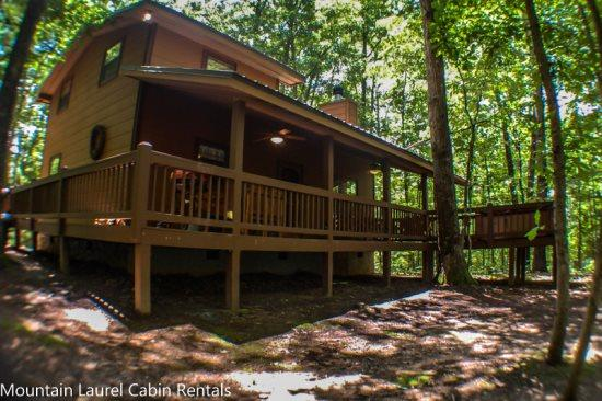 MOUNTAIN HAVEN- WOODED CABIN SLEEPS 6, SITS ON 2.8 ACRES, SEASONAL MOUNTAIN VIEWS, INDIAN BENT TRESS ON PROPERTY, KING BED IN MASTER SUIT, HIGH SPEED INTERNET, HOT TUB, CHARCOAL GRILL, WOOD BURNING FIREPLACE, AND A FIRE PIT! ONLY $99 A NIGHT! - Image 1 - Blue Ridge - rentals