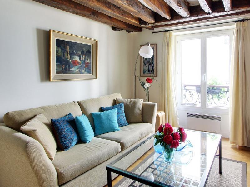 Living room - Beautiful 1 Bedroom Apartment in Marias - Paris - rentals