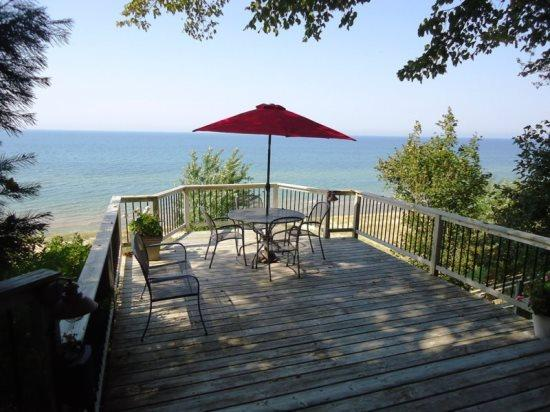 Your Lakefront view from deck - 82 Bluff Drive - South Haven - rentals