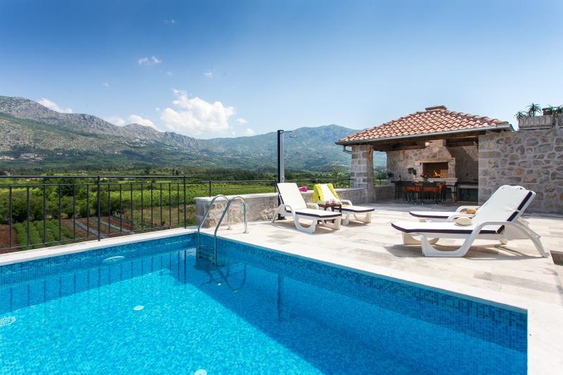 Swimming pool, pergola and terrace - Green Lagoon Apartment - Gruda - rentals