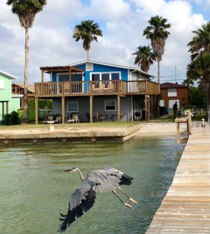 Texas T view of back of the house from the pier - Texas T - Rockport - rentals