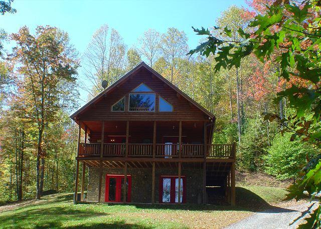 """QUIET SPLENDOR"" Log Home On 32 Secluded Acres With Bubbling Hot Tub! - Image 1 - Lansing - rentals"